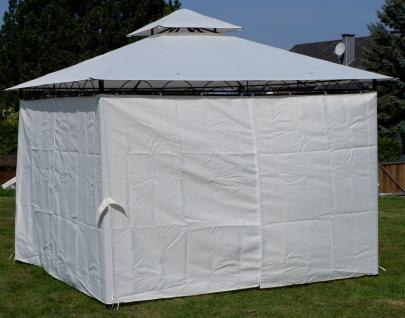 AS-S Garten Pavillon Gartenpavillon 3x3 Meter, Dach 100% WASSERDICHT UV30+ 9m² mit 4 Vorhängen quadratisch - Vorschau 3