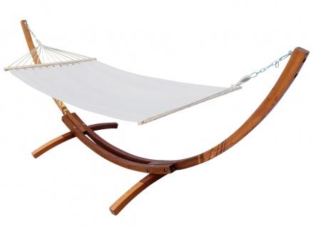 350cm Hängemattengestell LUCIA aus Holz Lärche mit Stab Hängematte