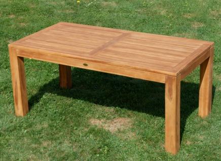 AS-S Wuchtiger Echt Teak Bigfuss Gartentisch 180x90 Holztisch Teaktisch Garten Tisch Holz - Vorschau 2