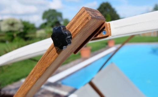Doppel - Sonnenliege TULUM extrabreit für 2 Personen mit verstellbarem Dach aus Holz Lärche - Vorschau 4