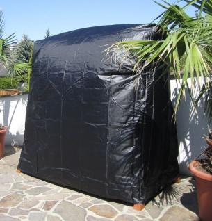 ASS Hollywoodschaukel Gartenschaukel MERU GRUEN aus Lärche Holz mit Regenabdeckung - Vorschau 3