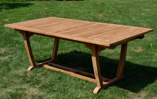 ECHT TEAK XXL Ausziehtisch Holztisch Gartentisch Garten Tisch 200-250-300cm 2fach ausziehbar, Breite 100cm Gartenmöbel Holz sehr robust JAV-TOBAGO-300x100 von AS-S - Vorschau 4
