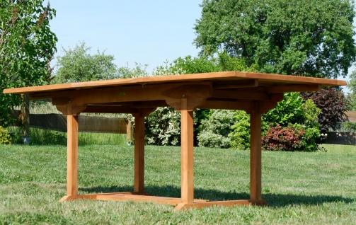 TEAK XXL Ausziehtisch 150/200-210 x 90 cm Holztisch Gartentisch Garten Tisch Holz SABA von AS-S - Vorschau 4
