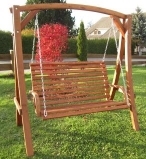 AS-S Design Hollywoodschaukel Gartenschaukel Schaukel Holzschaukel Hollywood Swing aus Holz Lärche Modell KUREDO103OD - Vorschau 4