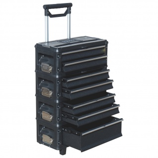Metall Werkzeugtrolley XXL Type B5-B schwarz mit Schubladenverriegelung und Schloss