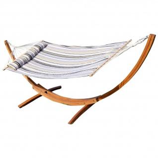 320cm Hängemattengestell NAGUA aus Holz Lärche mit Stab Hängematte