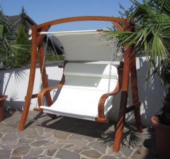 AS-S edle Hollywoodschaukel Gartenschaukel MERU mit Dach Holzgestell mit Doppelsessel aus Holz Lärche - Vorschau 2