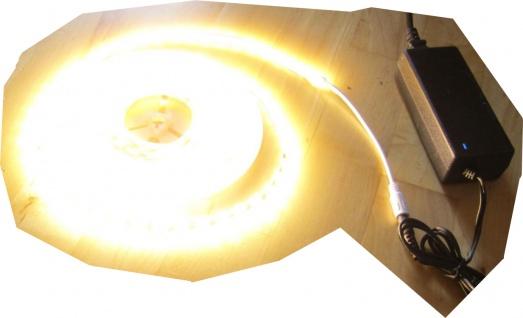 SET 6050 Lumen 5m Ultra-Highpower LED Streifen mit 300 2835 LED's warmweiß weiss weiß superhell wasserfest IP65 inkl. Netzteil 24V Pro-Serie TÜV/GS geprüft