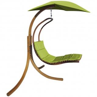 DESIGN Hängeliege NAVASSA-GRÜN mit Gestell aus Holz Lärche komplett mit Hängeliege und Dach von AS-S