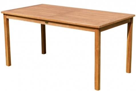 TEAK XL Gartentisch 150x80cm JAV-ALPEN