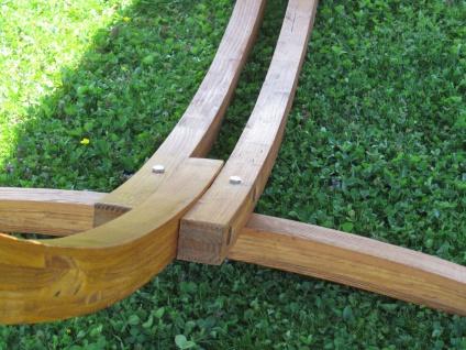 AS-S 350cm Hängemattengestell ALICIA Hängematte mit Gestell aus Holz Lärche mit bunter Stab Hängematte - Vorschau 5