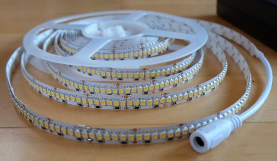 5300 Lumen 5m Ultra-Highpower Led Streifen 1200 LED in einer Reihe warmweiß warm weiss weiß 24Volt (ohne Netzteil) TÜV/GS geprüft - Vorschau 4