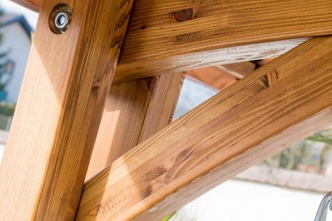 Design Hollywoodschaukel RIO GRÜN aus Holz Lärche mit Dach von AS-S - Vorschau 3