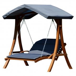 Design Hollywoodliege Hollywoodschaukel Doppelliege MACAO aus Holz Lärche mit Dach von AS-S