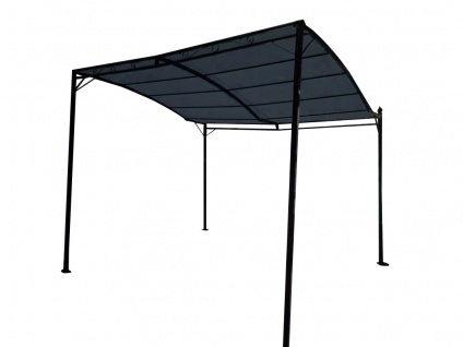 Wand Anbau Pavillon 3 x 2, 5 Meter mit Dach 100% wasserdicht UV30+ Model: TOPEA anthrazit - Vorschau 3