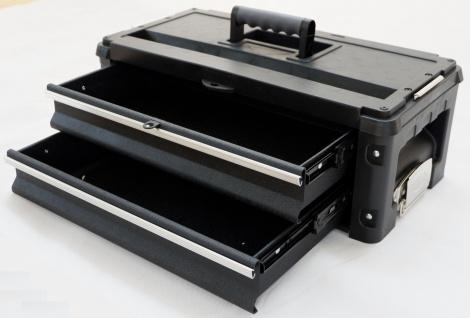 Erweiterungsbox Werkzeugkiste mit 2 Laden für unsere schwarzen Trolleys - Vorschau 3