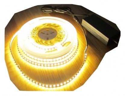 SET 2660 Lumen 5m Led Streifen 600 LED warmweiß inkl. Netzteil 24V Pro-Serie TÜV/GS geprüft von AS-S