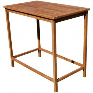 TEAK Bartisch Bistrotisch Stehtisch 120x70cm Holztisch Gartentisch Garten Tisch Holz Modell: JAV-BIMA-120x70 von AS-S