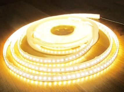SET 2550 Lumen 5m Led Streifen 600 LED warmweiß wasserfest IP65 inkl. Netzteil 24V Pro Serie TÜV/GS geprüft von AS-S - Vorschau 4
