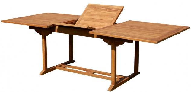 TEAK XXL Ausziehtisch Holztisch Gartentisch Garten Tisch L: 180/240cm B: 100cm Gartenmöbel Holz sehr robust Modell: JAV-TOBAGO240 von AS-S