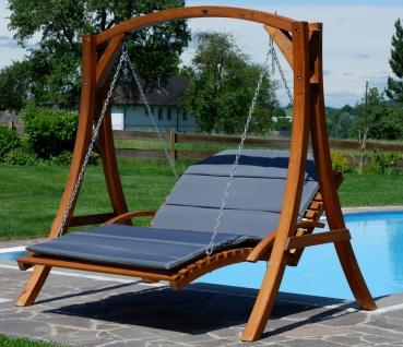 AS-S Design Hollywoodliege Hollywoodschaukel MACAO-OD aus Holz Lärche ohne Dach von - Vorschau 3