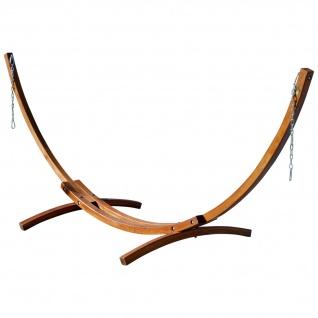 AS-S 350cm Hängemattengestell Gestell aus Holz Lärche ohne Hängematte (nur Gestell) komplett mit Schrauben