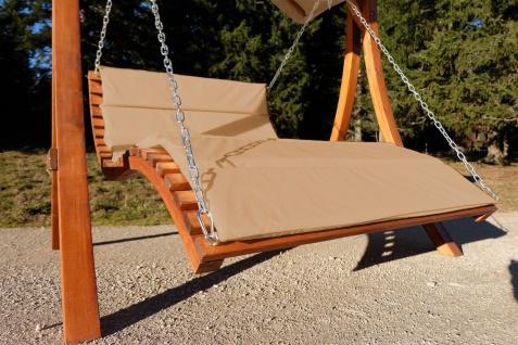 Design Hollywoodliege Hollywoodschaukel ARUBA-OD aus Holz Lärche ohne Dach BRAUN von AS-S - Vorschau 3