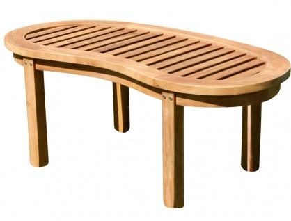 TEAK Sofa Tisch Holztisch Beistelltisch Gartentisch Kaffeetisch Garten Tisch 110x50cm JAV-COCO Holz von AS-S