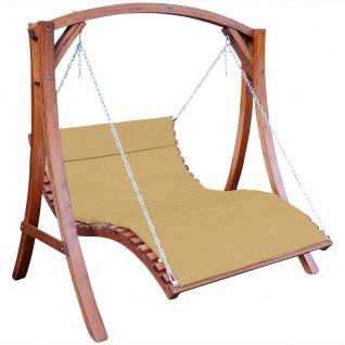 Design Hollywoodliege Hollywoodschaukel ARUBA-OD aus Holz Lärche ohne Dach BRAUN von AS-S - Vorschau 1