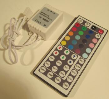 XXL RGB LED Controller mit Fernbedienung 44Tasten bis72Watt für LED Streifen 12V von AS-S - Vorschau 2