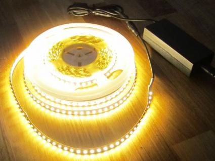 SET 2550 Lumen 5m Led Streifen 600 LED warmweiß wasserfest IP65 inkl. Netzteil 24V Pro Serie TÜV/GS geprüft
