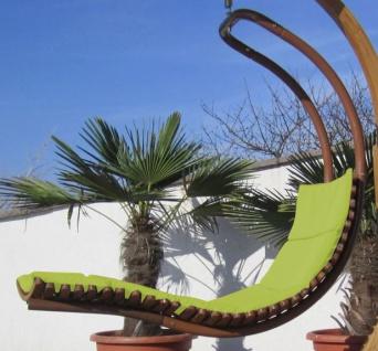 AS-S DESIGN Hängeliege Schwebeliege Schaukelliege NAVASSA-SEAT-GRÜN aus Holz Lärche / Metall mit Auflage (OHNE Gestell) - Vorschau 2