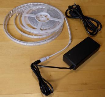 SET 6050 Lumen 5m Ultra-Highpower LED Streifen mit 300 2835 LED's warmweiß weiss weiß superhell wasserfest IP65 inkl. Netzteil 24V Pro-Serie TÜV/GS geprüft - Vorschau 2