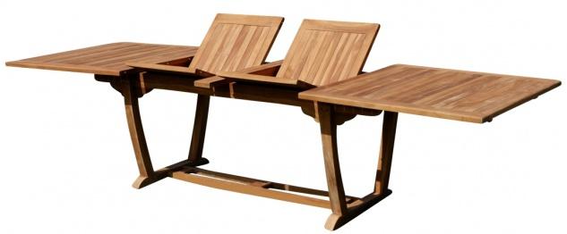 ECHT TEAK XXL Ausziehtisch Holztisch Gartentisch Garten Tisch 200-250-300cm 2fach ausziehbar, Breite 100cm Gartenmöbel Holz sehr robust JAV-TOBAGO-300x100 von AS-S - Vorschau 1