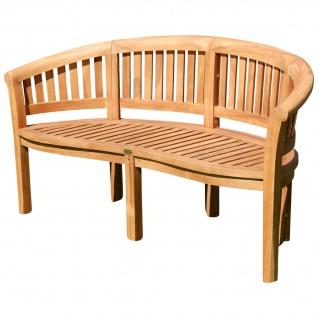 TEAK XXXL Bananenbank Gartenbank Parkbank Sitzbank 3-Sitzer Bank Gartenmöbel 150cm Holz sehr robust Model JAV-COCO von AS-S