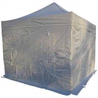 3x3m ALU Profi Faltzelt Marktzelt Marktstand Tent 50mm Hex ALU mit Metallgelenken und FEUERHEMMENDEN PLANEN