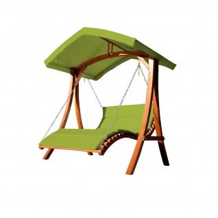 ALEOS. Design Doppelliege Hollywoodliege Hollywoodschaukel Gartenschaukel ARUBA GRÜN Holz Lärche mit Dach
