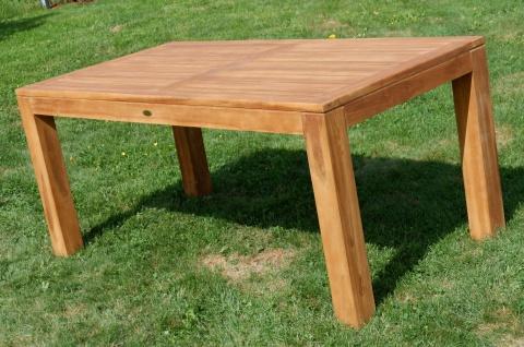 AS-S Wuchtiger Echt Teak Bigfuss Gartentisch 180x90 Holztisch Teaktisch Garten Tisch Holz - Vorschau 3