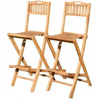 2Stück TEAK Design Barhocker Bistrohocker Bistrosessel Barsessel Sessel Holzsessel Gartensessel Gartenmöbel Holz Modell: JAV-BIMA-KLAPPBAR von AS-S