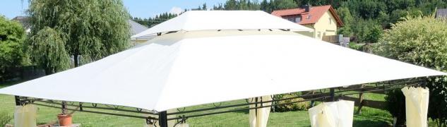 Dachplane für Gartenpavillon 3x4m wasserfest für Modell: 7075 - kein Umtausch oder Rückgaberecht