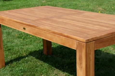 AS-S Wuchtiger Echt Teak Bigfuss Gartentisch 180x90 Holztisch Teaktisch Garten Tisch Holz - Vorschau 5