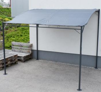 Wand Anbau Pavillon 3 x 2, 5 Meter mit Dach 100% wasserdicht UV30+ Model: TOPEA anthrazit - Vorschau 2