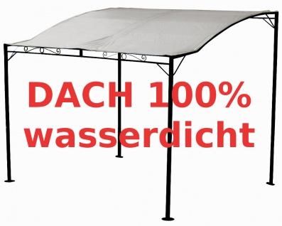 Wand Anbau Pavillon 3 x 2, 5 Meter mit Dach 100% wasserdicht UV30+ Model: TROPEA