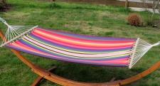 Hängematte 120x200 ROJO - BUNT gestreift aus Baumwolle