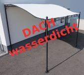 Wand Anbau Pavillon 3 x 2, 5 Meter mit Dach 100% wasserdicht UV30+ Model: TOPEA
