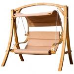 Design Hollywoodschaukel ANTIGUA aus Holz Lärche