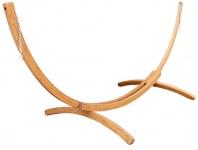375cm XXL Luxus Hängemattengestell BRAZIL aus Holz Lärche coffee-braun ohne Hängematte