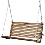 Sitzbank 2-Sitzer für Hollywoodschaukel aus Holz Lärche Modell: SEAT RIO (ohne Gestell!!)