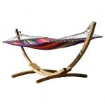 320cm Hängemattengestell BLANCA-ROJO aus Holz Lärche mit Stab Hängematte