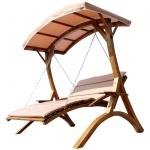"""Design Hollywoodliege """" MACAO"""" aus Holz Lärche mit Dach"""